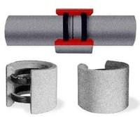Стыковка соединение асбестоцементных труб при помощи соединительных муфт