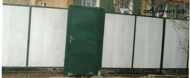 Забор из плоского шифера купить и построить своими руками